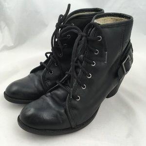 Aldo booties boots high heel ankle fleece lined